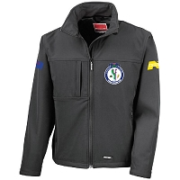 Stranraer & Rhins Young Farmers Club Men's Classic Soft Shell Jacket - Black