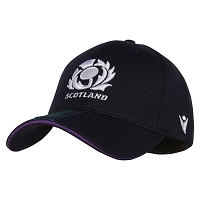 Scotland Rugby M19 6NT Baseball Cap Top Navy/Tartan Senior