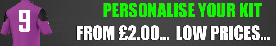 Personalise your kit from £2.00