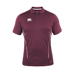 Canterbury Teamwear Team Dry Polo Maroon Senior