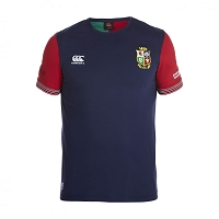 British & Irish Lions 2017 Vapodri Cotton Training Tee Blue Mens
