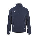 Canterbury Teamwear Team 1/4 Zip Micro Fleece Top Black Junior
