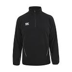 Canterbury Teamwear Team 1/4 Zip Micro Fleece Top Black Senior
