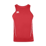 Canterbury Teamwear Team Dry Singlet Red Senior