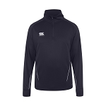 Canterbury Teamwear Team 1/4 Zip Mid layer Training Top Navy Senior