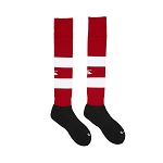 Canterbury Team Hooped Playing Socks Red/White