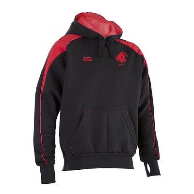 Biggar RFC Premium Pro Hoody Black/Red Junior