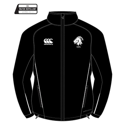Biggar RFC Team Full Zip Rain Jacket Black/White Senior