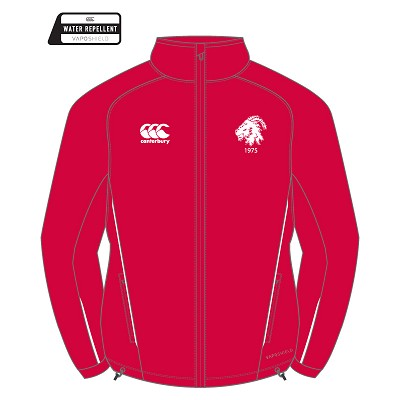 Biggar RFC Team Full Zip Rain Jacket Flag Red/White Senior