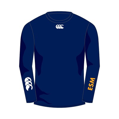 ESM Hockey Club Baselayer Cold Long Sleeve Top Navy Adults