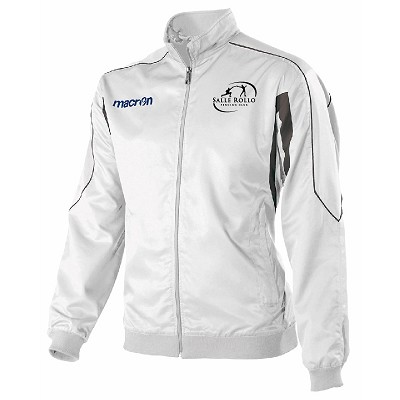 Salle Rollo Fencing Club Safon Microfiber Full Zip Top White/Gun Metal Junior