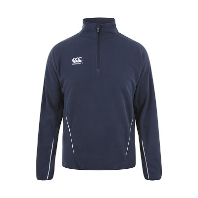 Canterbury Teamwear Team 1/4 Zip Micro Fleece Top Navy Senior