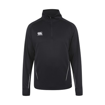 Canterbury Teamwear Team 1/4 Zip Mid layer Training Top Black Junior