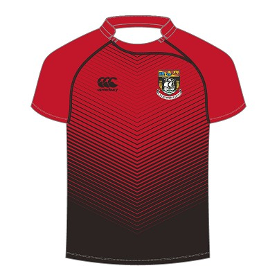 Waid Academy Advantx Sub Lithium Rugby Jersey Black/Flag Red Junior