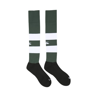 Canterbury Team Hooped Playing Socks Forest/White
