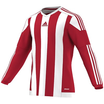 Adidas Striped 15 LS Jersey - Power Red/White