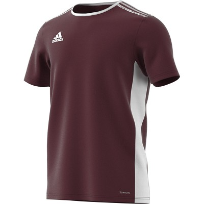Adidas Entrada 18 SS Jersey - Maroon/White