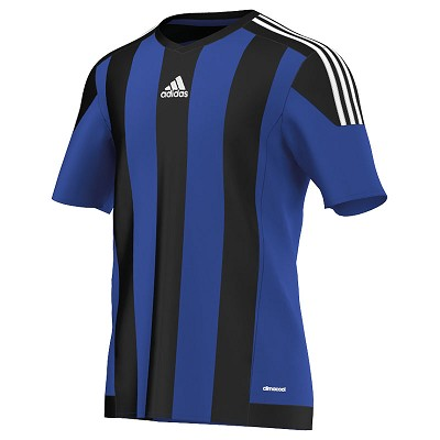 Adidas Striped 15 SS Jersey - Bold Blue/Black/White
