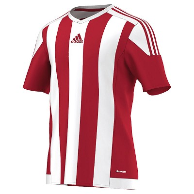 Adidas Striped 15 SS Jersey - Power Red/White