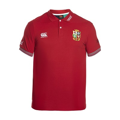 British & Irish Lions 2017 Vapodri Cotton Pique Polo Red Mens