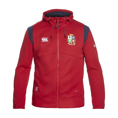 British & Irish Lions 2017 Thermoreg Fleece Full Zip Hoody Red Mens