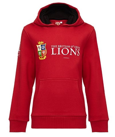 British & Irish Lions 2017 Pullover Hoody Red Junior