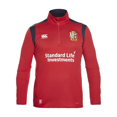 British & Irish Lions 2017 Thermoreg Fleece 1/4 Zip Red Mens