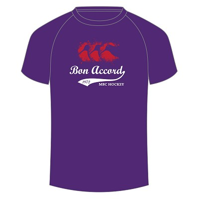Aberdeen Bon Accord MBC Splatter T-Shirt Purple