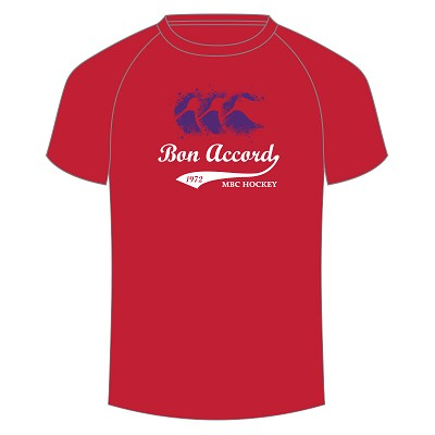 Aberdeen Bon Accord MBC Splatter T-Shirt Red