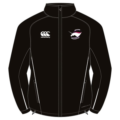 Berkshire Unicorns RFC Team Full Zip Rain Jacket Black