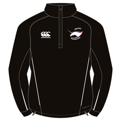 Berkshire Unicorns RFC Team 1/4 Zip Mid Layer Training Top Black