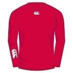 Biggar RFC Baselayer Cold Long Sleeve Top Flag Red Junior