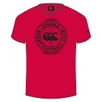 Biggar RFC Team Print T-Shirt Flag Red Senior