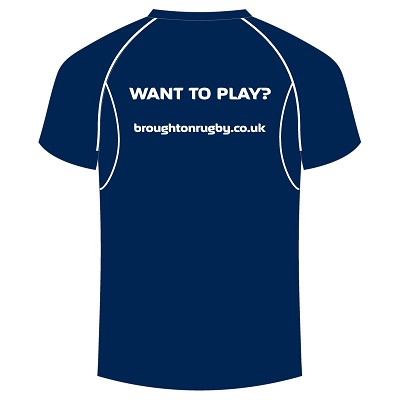 "Broughton RFC ""Want to play?"" Dry T-Shirt"