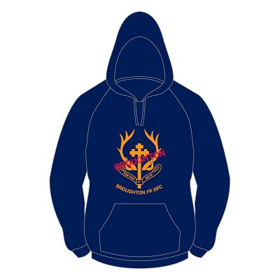 "Broughton RFC ""Want to play?"" Hoody - Navy"