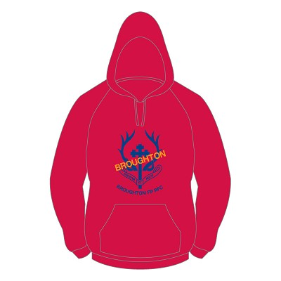 "Broughton RFC ""Want to play?"" Hoody - Red"