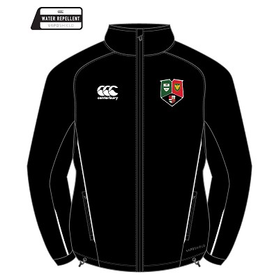 GHA RFC Team Full Zip Rain Jacket - Black
