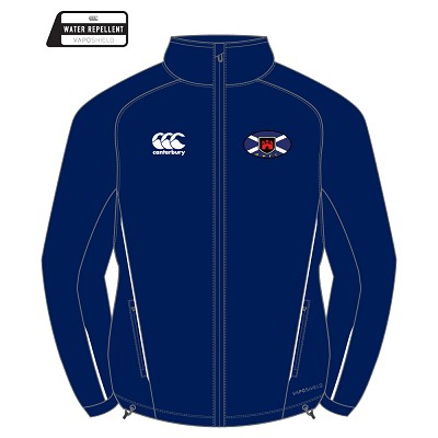 Murrayfield Wanderers Mini/Midi FC Team Full Zip Rain Jacket Junior Navy