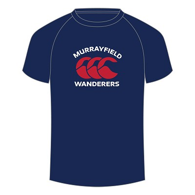 Murrayfield Wanderers Mini/Midi FC Logo T Shirt Adults Navy