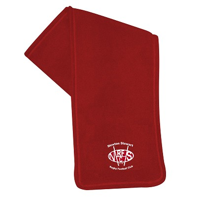 Newton Stewart RFC Fleece Scarf Red