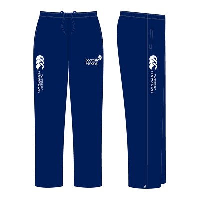 Scottish Fencing Womens Open Hem Stadium Pants Navy