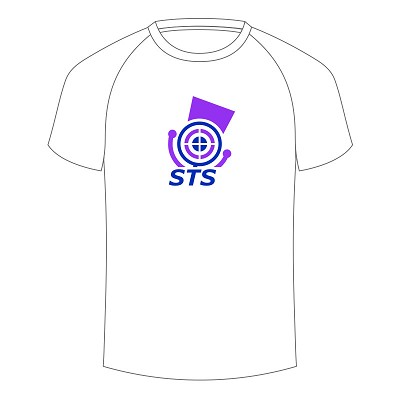 Scottish Target Shooting Logo Tee White