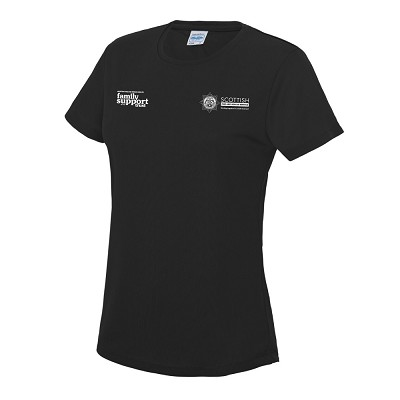 SFRS Family Support Trust Cool T-Shirt Ladies Black