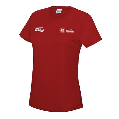 SFRS Family Support Trust Cool T-Shirt Ladies Red