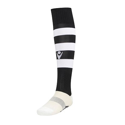 West Hoathly FC Hoops Sock Black Senior