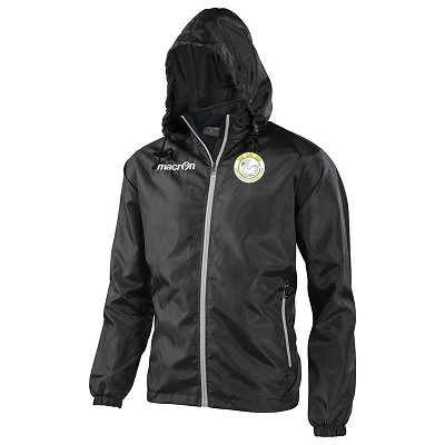 West Hoathly FC Praia Full Zip Windbreaker Black/Grey Senior