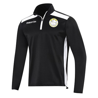 West Hoathly FC Tarim 1/4 Zip Top Black/White Senior