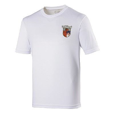 Bell Baxter High School Ladies P.E. Top  Arctic White