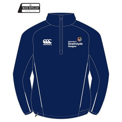 University of Strathclyde Mens Team Quarter Zip Micro Fleece Navy/White