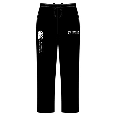 UOD Sports Open Hem Stadium Pants Male Fit Black